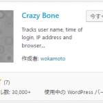WordPressのログイン履歴を確認するプラグイン